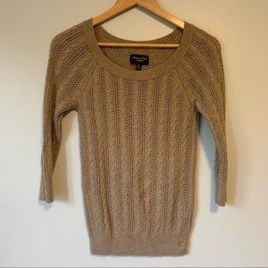 American eagles outfitter lose knit tan sweater S